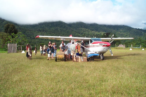 We lived 100 miles interior where there are no roads or public utilities.  We got our supplies on mission aircraft.