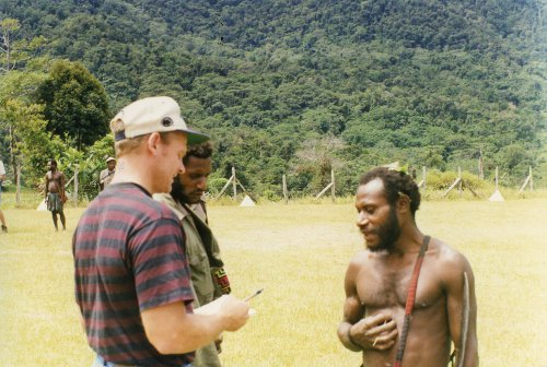 Learning the language of the people Malaumanda took 100's of hours out among them.